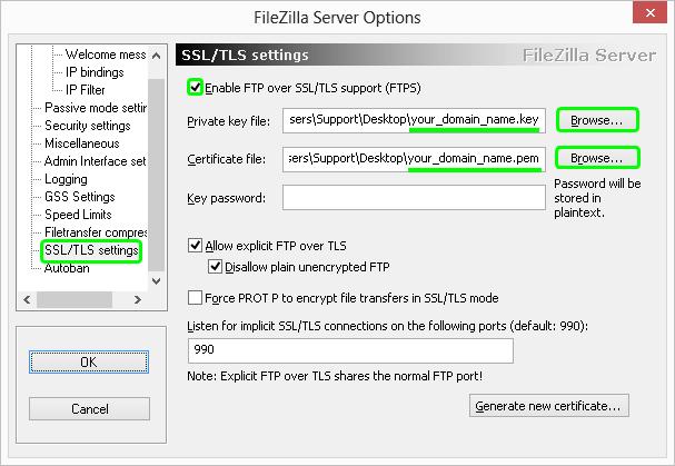 filezilla-ssl-certificate-installation